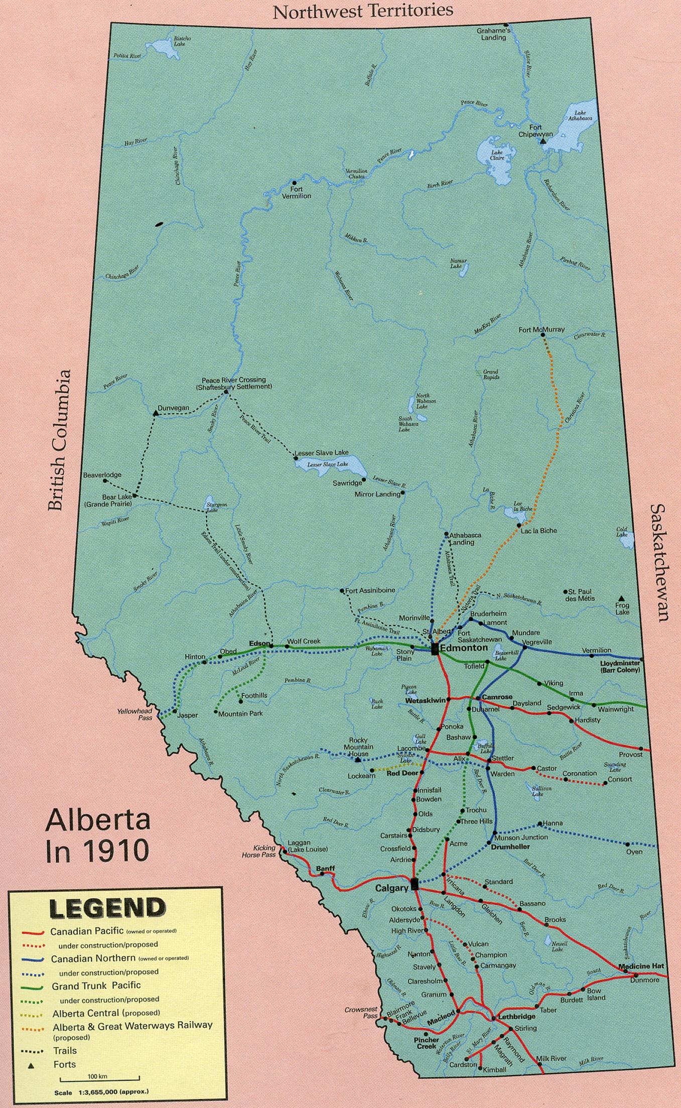 Calgary Alberta Map